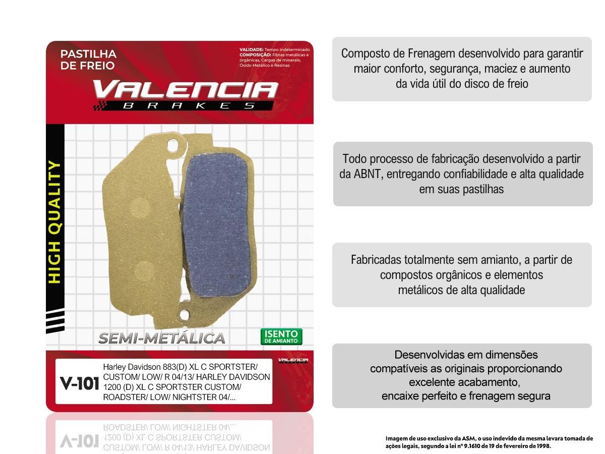 KIT 02 JOGOS DE PASTILHAS DE FREIO DIANTEIRA HARLEY DAVIDSON XL SPORTSTER R 883 2005 A 2013 (FREIO DUPLO) VL BRAKES(V101-FJ2230)