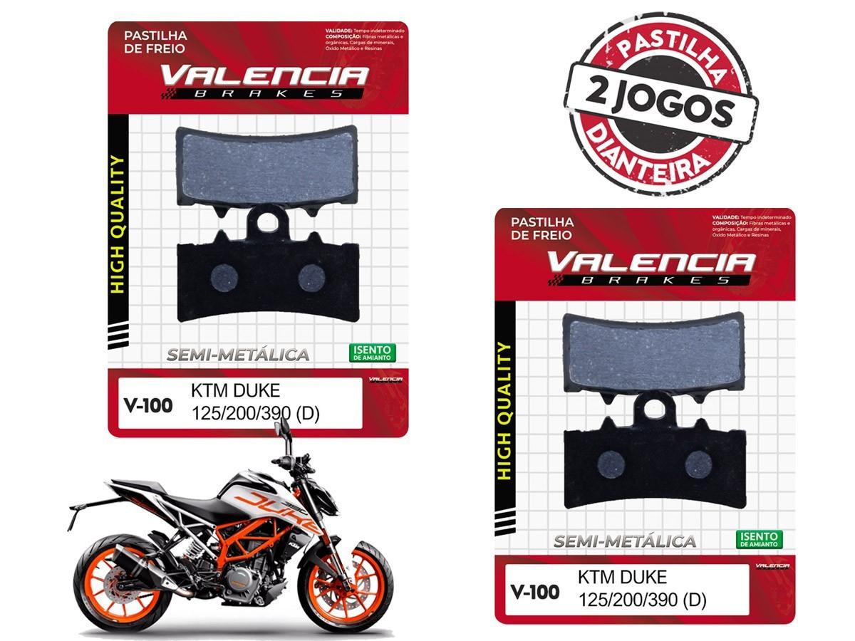 KIT 02 JOGOS DE PASTILHAS DE FREIO DIANTEIRA KTM DUKE 390CC 2013... VL BRAKES(V100-FJ2630)