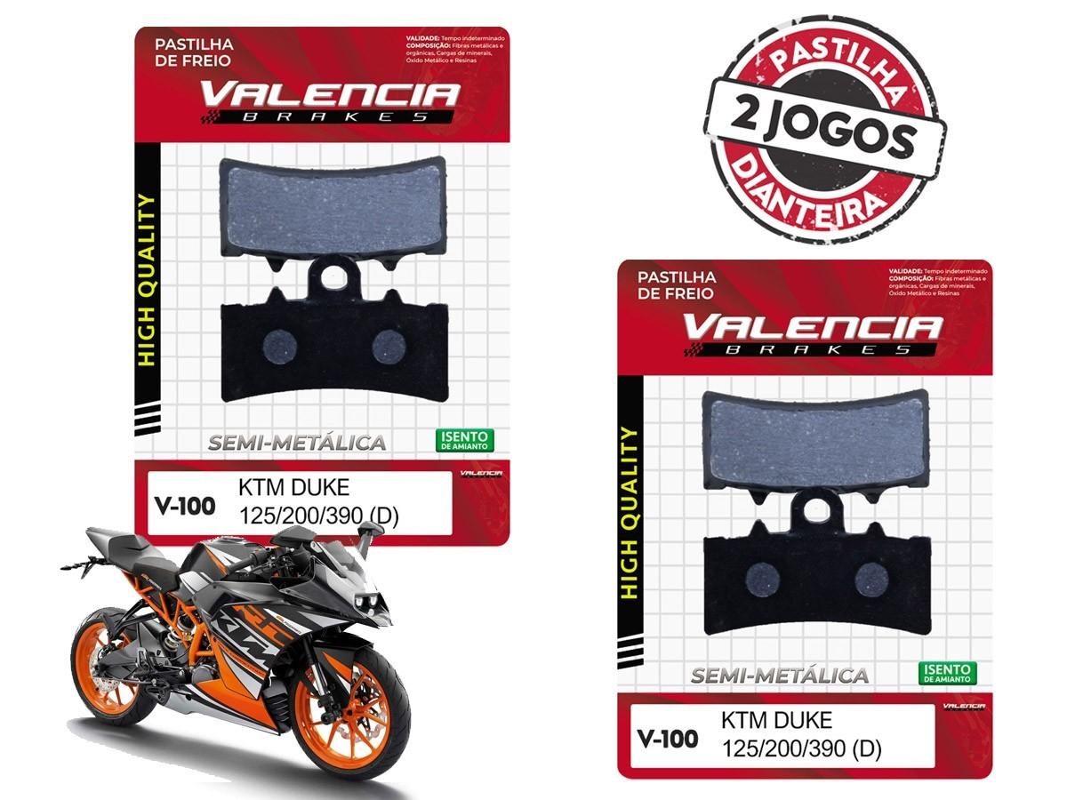 KIT 02 JOGOS DE PASTILHAS DE FREIO DIANTEIRA KTM RC 125CC 2014... VL BRAKES(V100-FJ2630)