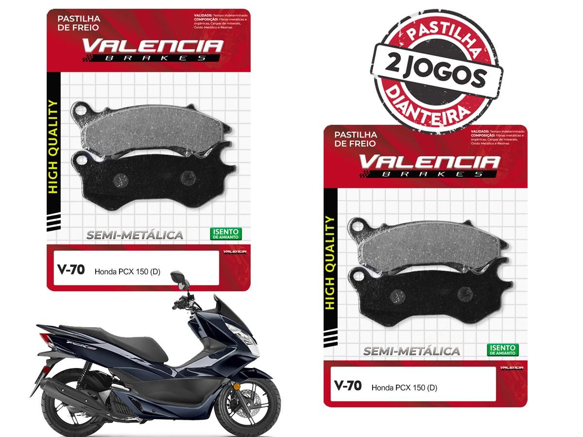 KIT 02 JOGOS DE PASTILHAS DE FREIO DIANTEIRA/TRASEIRA DAFRA CITYCOM 300 VL BRAKES(V66-FJ1460)
