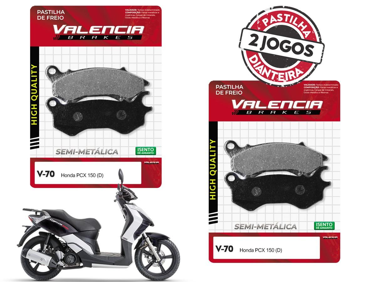 KIT 02 JOGOS DE PASTILHAS DE FREIO DIANTEIRO DAFRA CITYCLASS 200i VL BRAKES(V70-FJ2590)