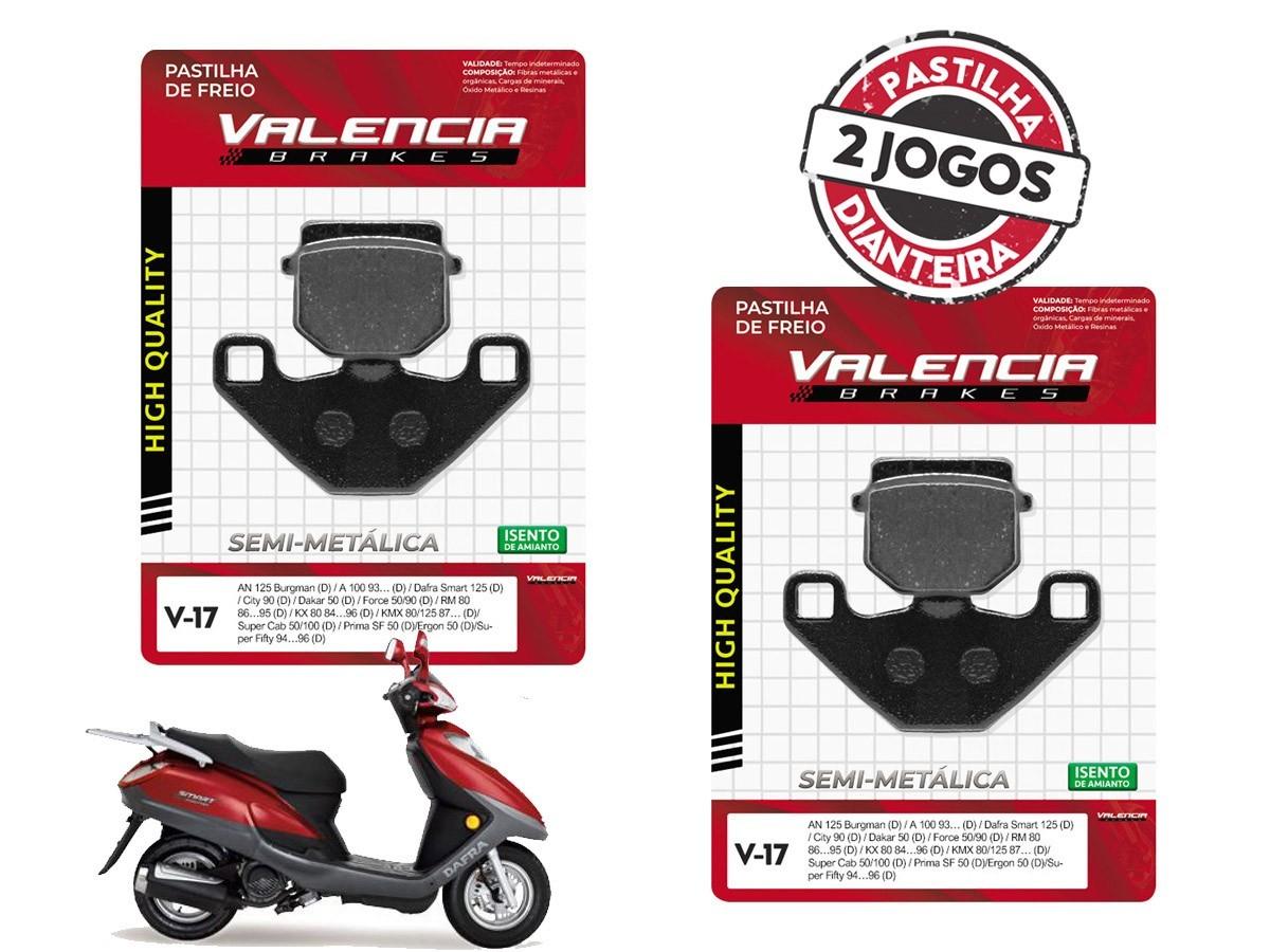 KIT 02 JOGOS DE PASTILHAS DE FREIO DIANTEIRO DAFRA SMART 125CC 2009/... VL BRAKES (V17-FJ1290)