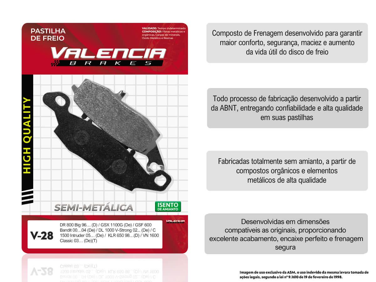 KIT 02 JOGOS DE PASTILHAS DE FREIO DIANTEIRO ESQUERDO SUZUKI DL V-STROM 650 S/ABS 2004/... VL BRAKES (V28-FJ1450)