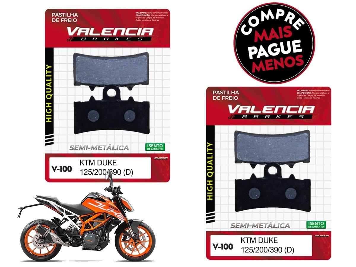 KIT 02 JOGOS DE PASTILHAS DE FREIO DIANTEIRO KTM DUKE 200CC 2012... VL BRAKES(V100-FJ2630)