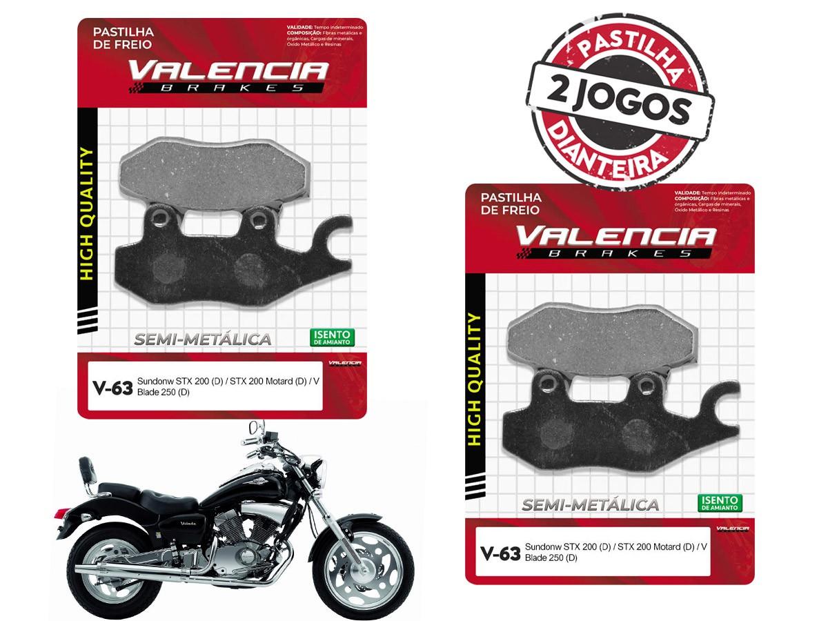 KIT 02 JOGOS DE PASTILHAS DE FREIO DIANTEIRO SUNDOWN V BLADE 250CC 2006... VL BRAKES(V63-FJ2080)