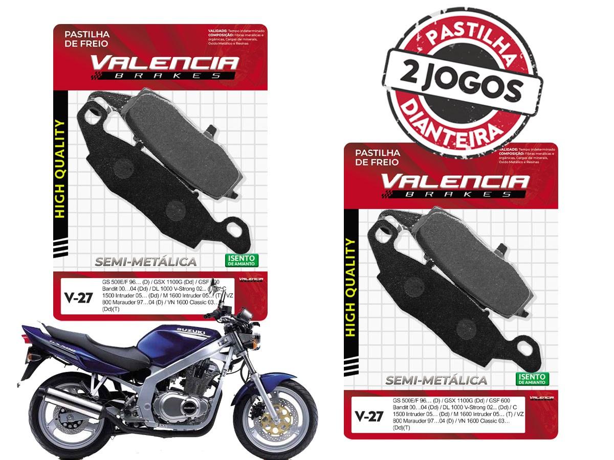KIT 02 JOGOS DE PASTILHAS DE FREIO DIANTEIRO SUZUKI GS 500 2004/... VL BRAKES (V27-FJ1440)