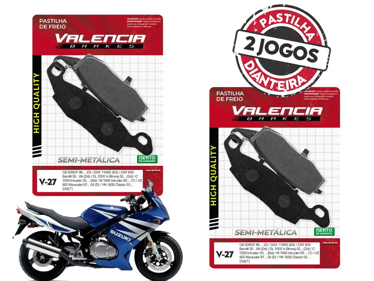 KIT 02 JOGOS DE PASTILHAS DE FREIO DIANTEIRO SUZUKI GS 500F 2004/... VL BRAKES (V27-FJ1440)