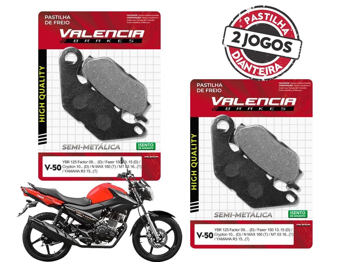 KIT 02 JOGOS DE PASTILHAS DE FREIO DIANTEIRO YAMAHA FACTOR 150 2017... VL BRAKES(V50-FJ2320)