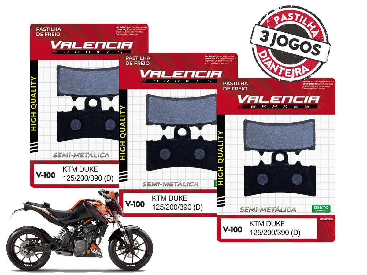 KIT 03 JOGOS DE PASTILHAS DE FREIO DIANTEIRA KTM DUKE 125CC 2011...  VL BRAKES(V100-FJ2630)