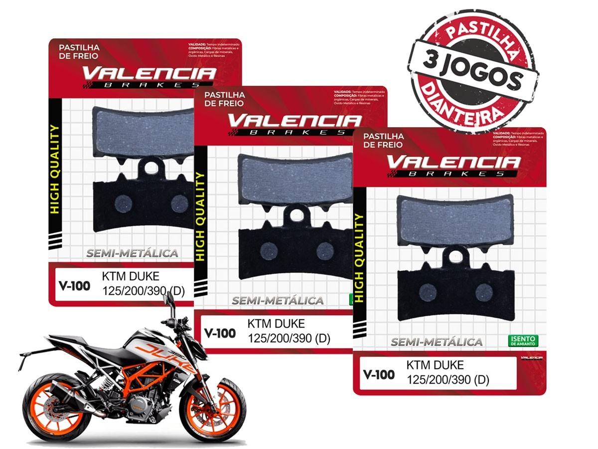 KIT 03 JOGOS DE PASTILHAS DE FREIO DIANTEIRA KTM DUKE 390CC 2013... VL BRAKES(V100-FJ2630)