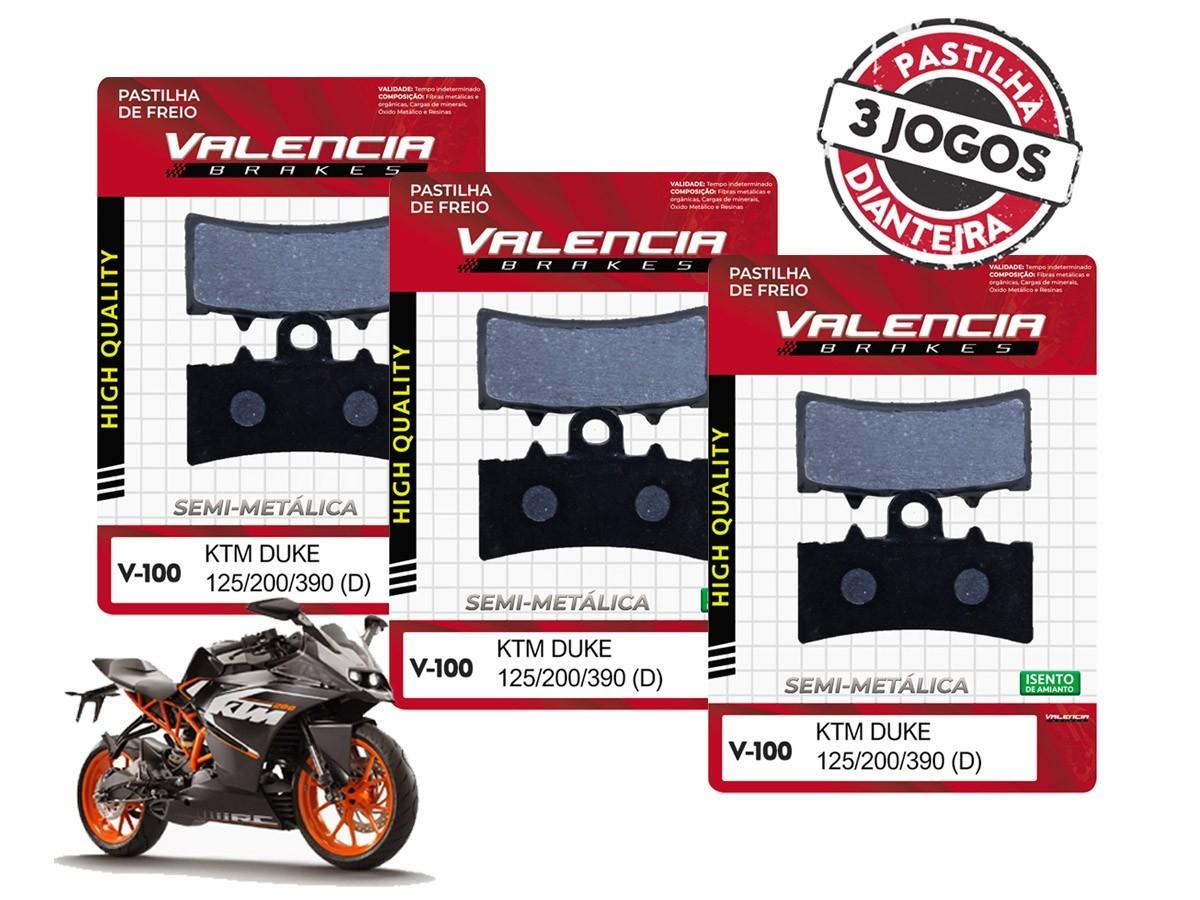 KIT 03 JOGOS DE PASTILHAS DE FREIO DIANTEIRA KTM RC 200CC 2014... VL BRAKES(V100-FJ2630)