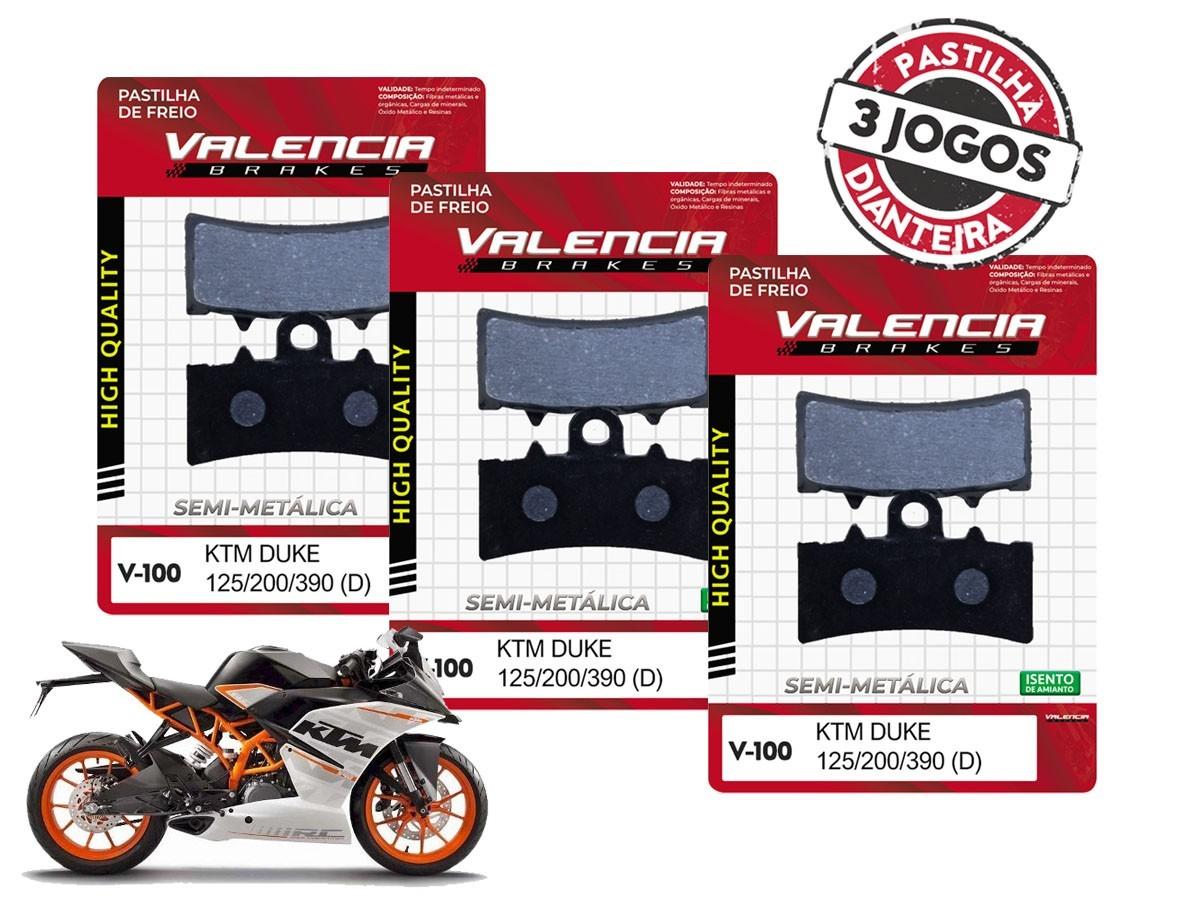 KIT 03 JOGOS DE PASTILHAS DE FREIO DIANTEIRA KTM RC 390CC 2014... VL BRAKES(V100-FJ2630)