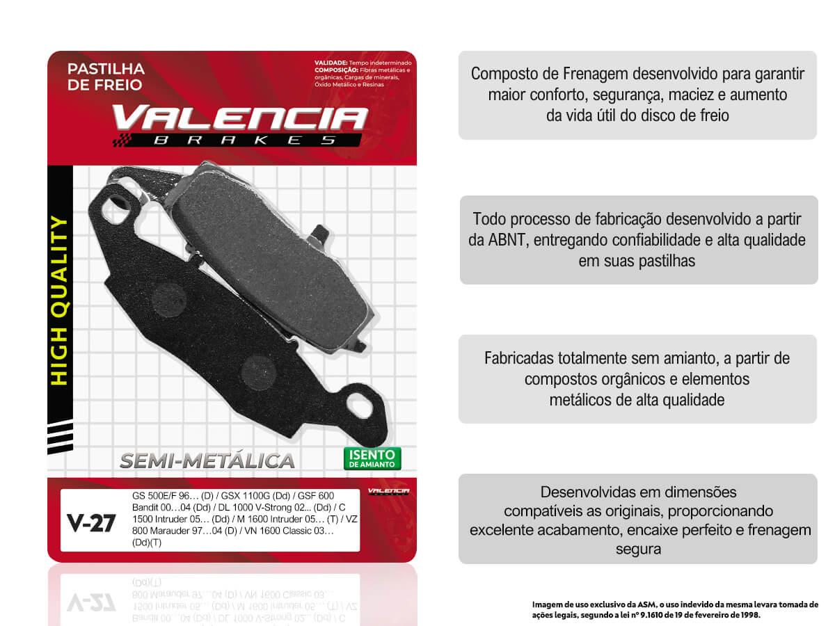 KIT 03 JOGOS DE PASTILHAS DE FREIO DIANTEIRO DIREITO SUZUKI DL V-STROM 650 S/ABS 2004/... VL BRAKES (V27-FJ1440)