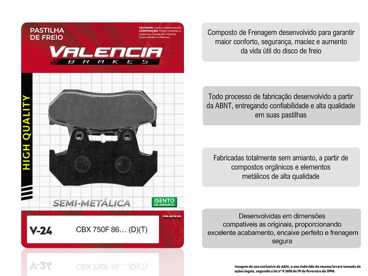 KIT 03 JOGOS DE PASTILHAS DE FREIO DIANTEIRO HONDA CBX 750F GALO 1986/...(FREIO DUPLO) VL BRAKES (V24-FJ0820)