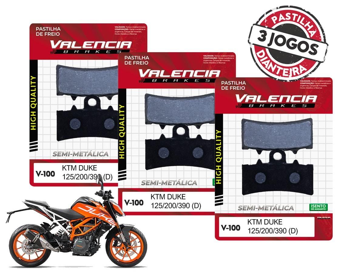 KIT 03 JOGOS DE PASTILHAS DE FREIO DIANTEIRO KTM DUKE 200CC 2012... VL BRAKES(V100-FJ2630)