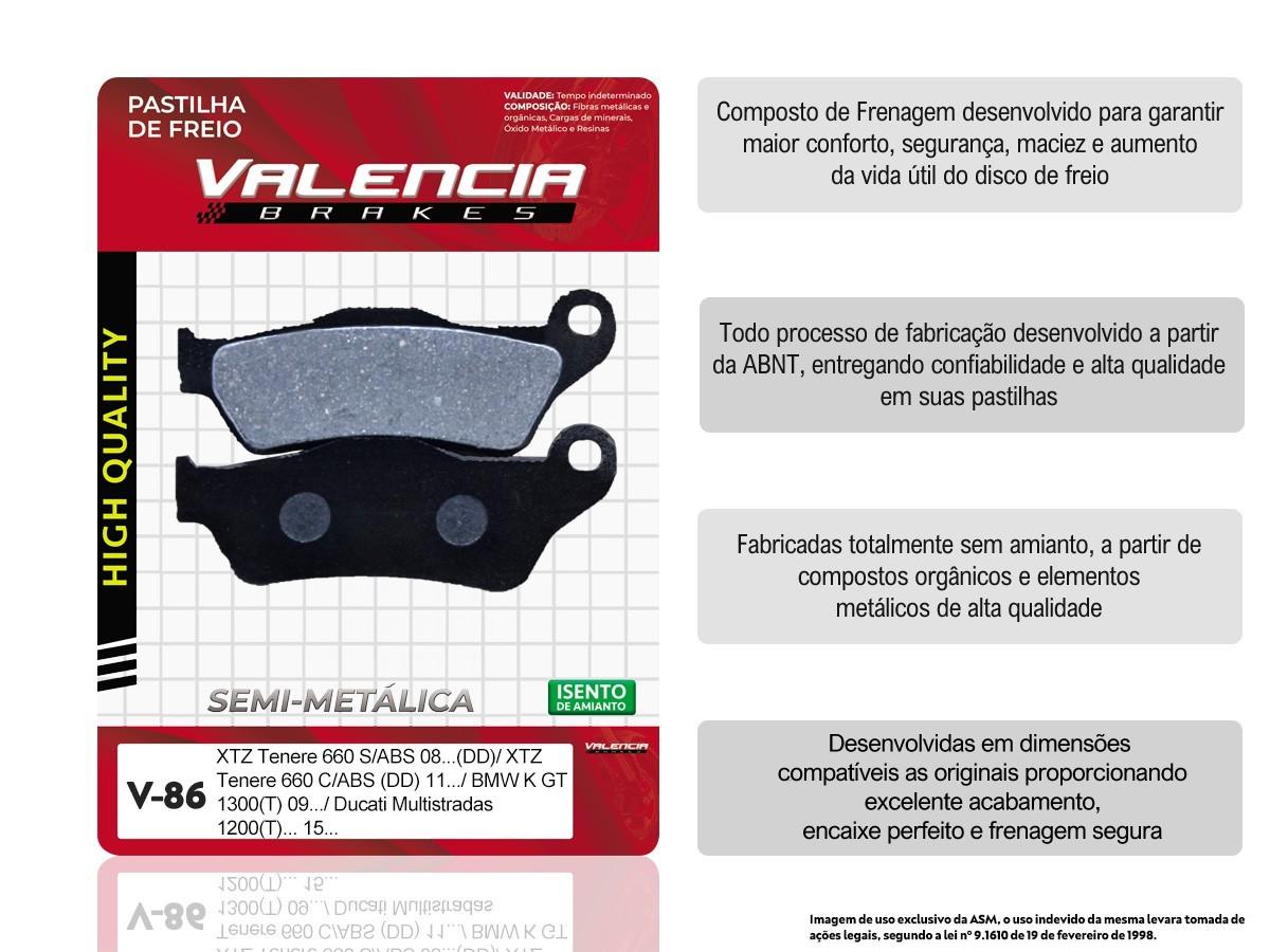 KIT 03 JOGOS DE PASTILHAS DE FREIO DIANTEIRO YAMAHA XTZ TENERE 660 S/ ABS 2008... VL BRAKES(V86-FJ1040)
