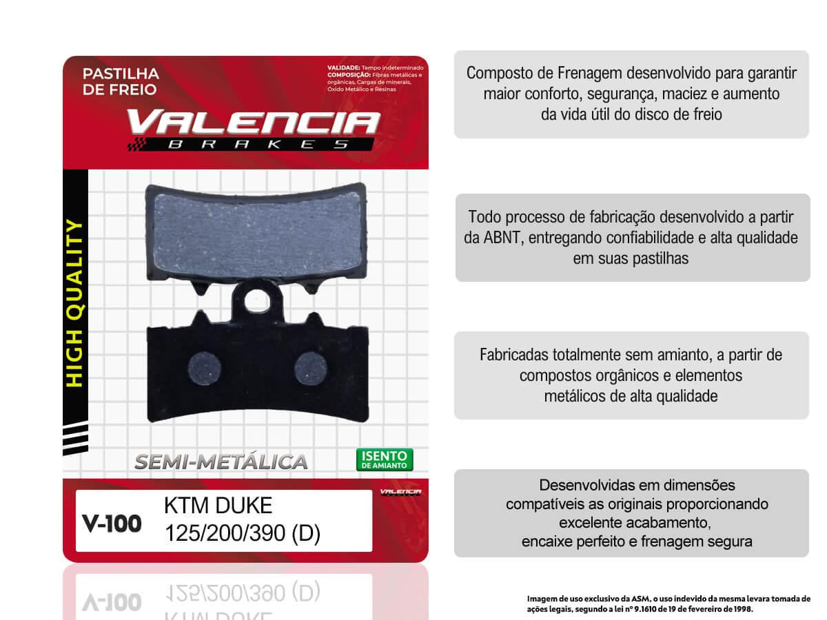 KIT 05 JOGOS DE PASTILHAS DE FREIO DIANTEIRA KTM DUKE 125CC 2011...  VL BRAKES(V100-FJ2630)