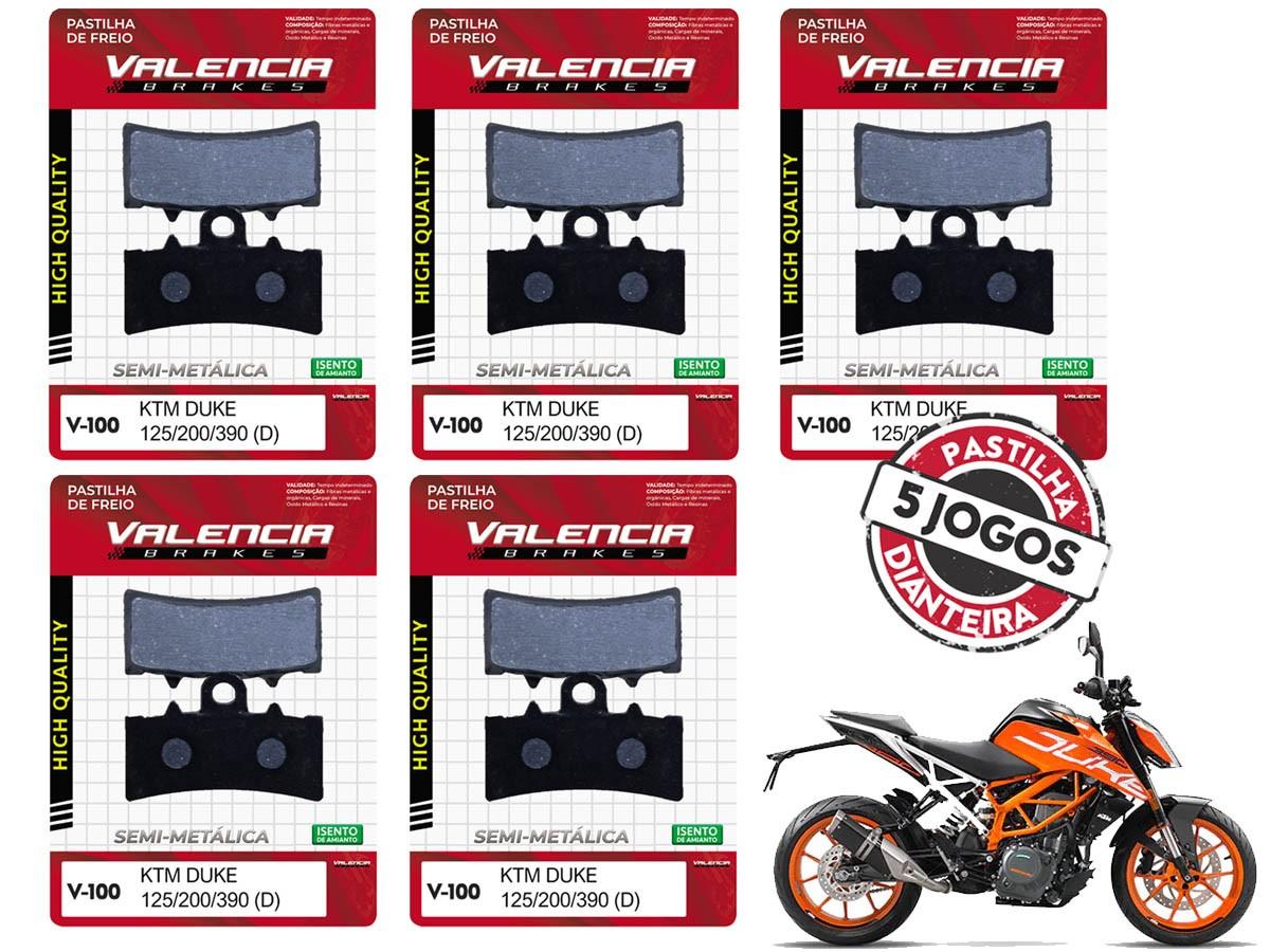 KIT 05 JOGOS DE PASTILHAS DE FREIO DIANTEIRO KTM DUKE 200CC 2012... VL BRAKES(V100-FJ2630)