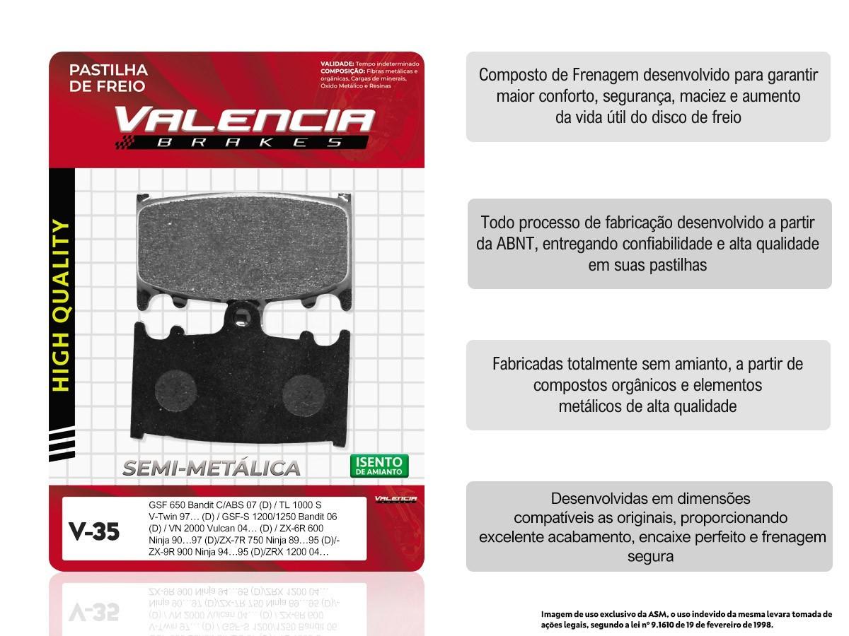 KIT 05 JOGOS DE PASTILHAS DE FREIO DIANTEIRO SUZUKI GSF BANDIT 1250 C/ABS/GSF S BANDIT 1250 C/ABS 2007... (FREIO DUPLO) VL BRAKES(V35-FJ1102)