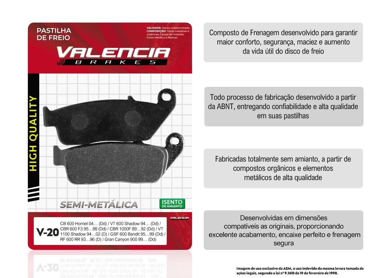 KIT 05 JOGOS DE PASTILHAS DE FREIO DIANTEIRO TRIUMPH TIGER 800 XC S/ABS 2012 A 2014 (FREIO DUPLO) VL BRAKES (V20-FJ0875)