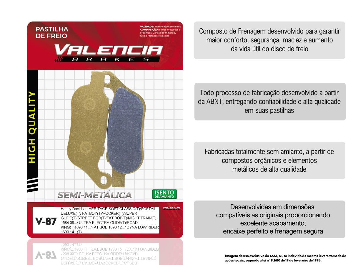 KIT 05 JOGOS DE PASTILHAS DE FREIO HARLEY DAVIDSON VL BRAKES (V87-FJ2340)