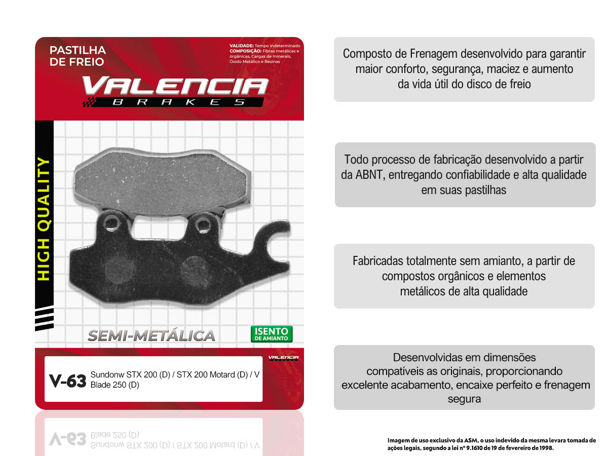 KIT 10 JOGOS DE PASTILHAS DE FREIO DIANTEIRO SUNDOWN STX MOTARD 200CC 2006... VL BRAKES(V63-FJ2080)