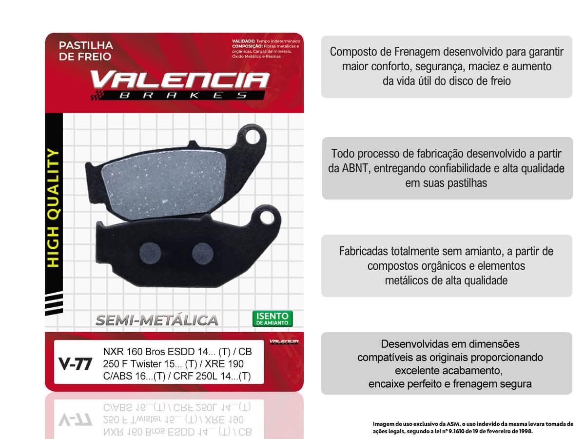KIT 10 JOGOS DE PASTILHAS DE FREIO TRASEIRA HONDA CRF 250 L 2014... VL BRAKES(V77-FJ2670)