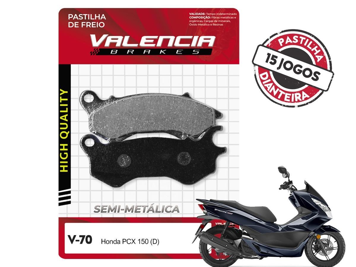 KIT 15 JOGOS DE PASTILHAS DE FREIO DIANTEIRA/TRASEIRA DAFRA CITYCOM 300 VL BRAKES(V66-FJ1460)