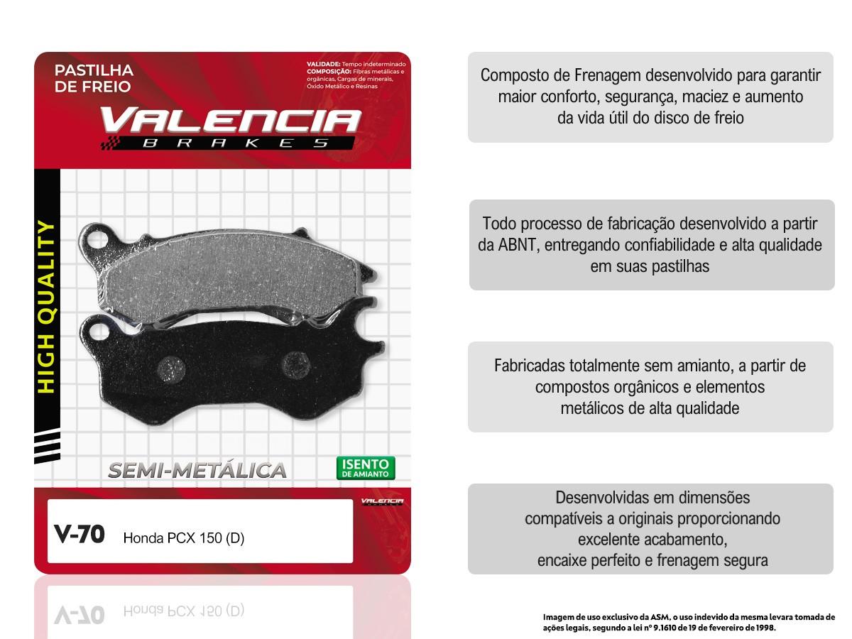 KIT 15 JOGOS DE PASTILHAS DE FREIO DIANTEIRO DAFRA CITYCLASS 200i VL BRAKES(V70-FJ2590)