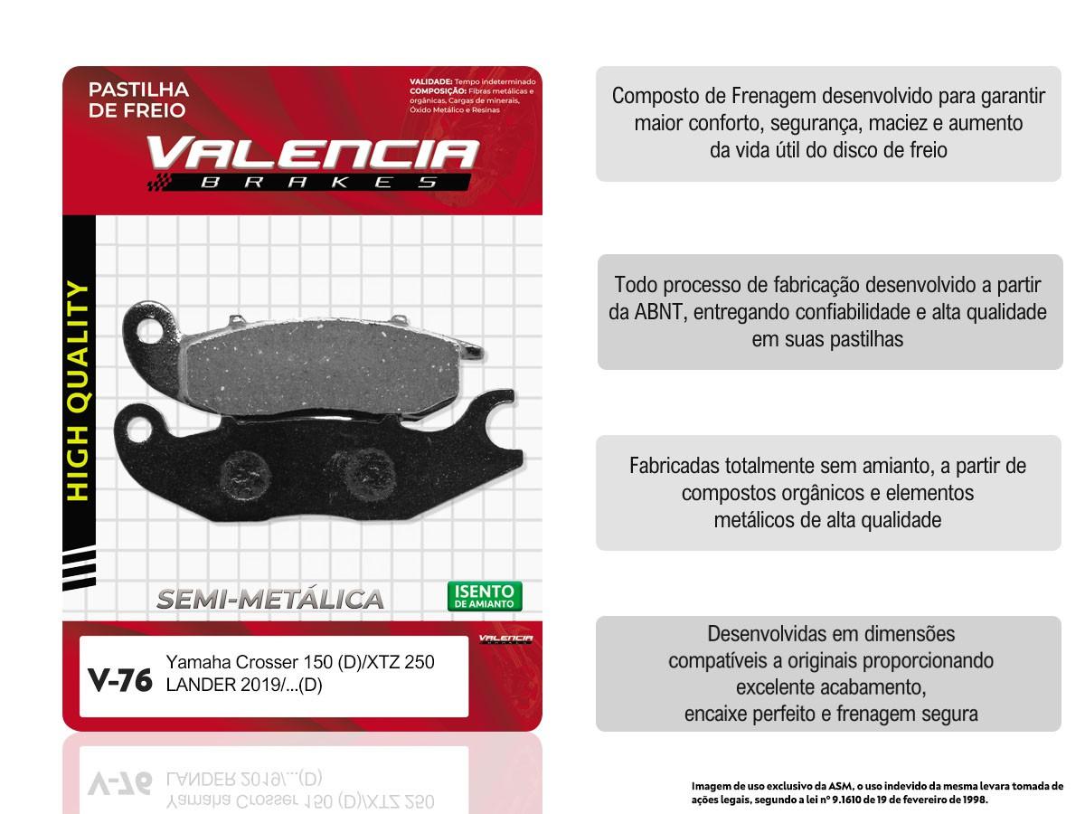 KIT 20 JOGOS DE PASTILHAS DE FREIO DIANTEIRA HONDA CRF 250 L 2014... VL BRAKES(V76-FJ2660)