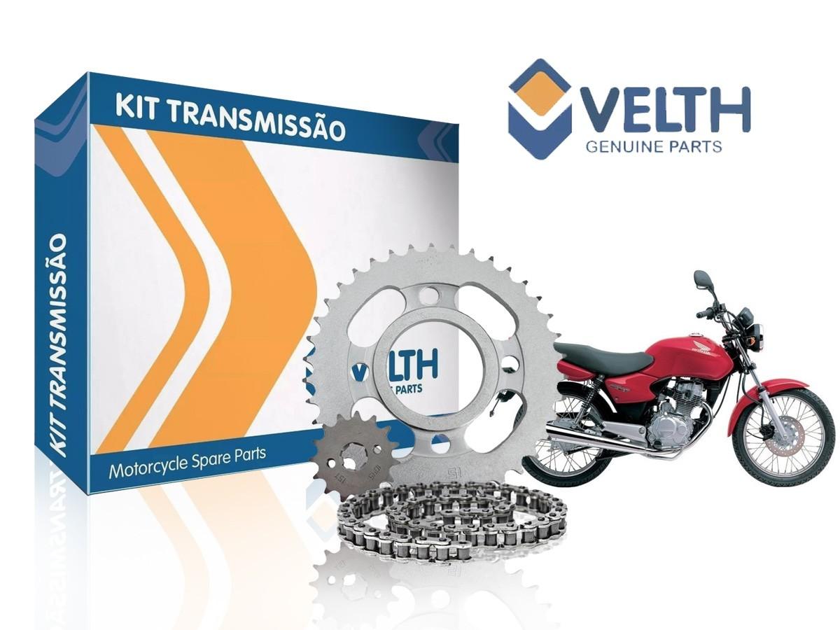 Kit 5 Relação Cg/ Titan/ Fan/ Cargo 125 2009 A 2013 - Velth