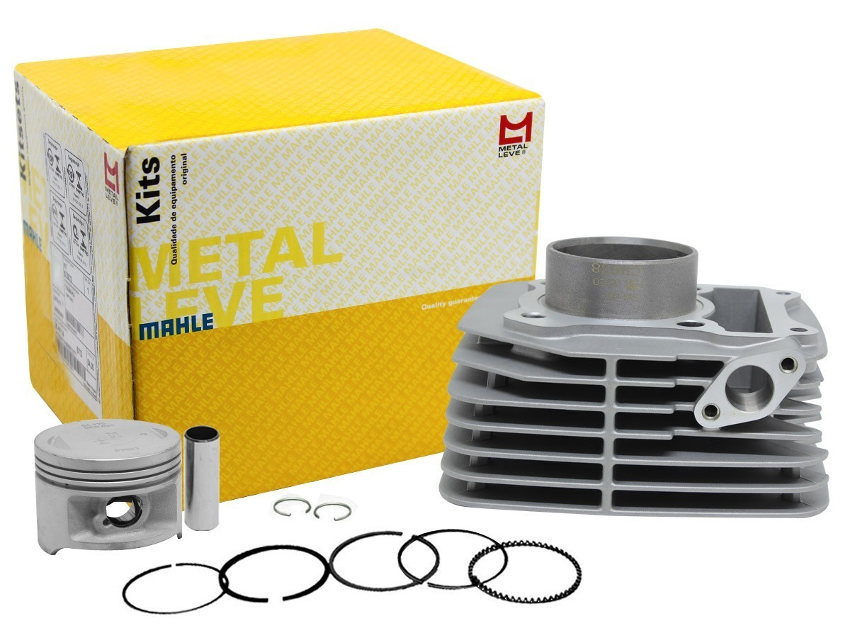 Kit Cilindro/pistão E Anéis Suzuki Yes 125 Metal Leve + Biela Brandy