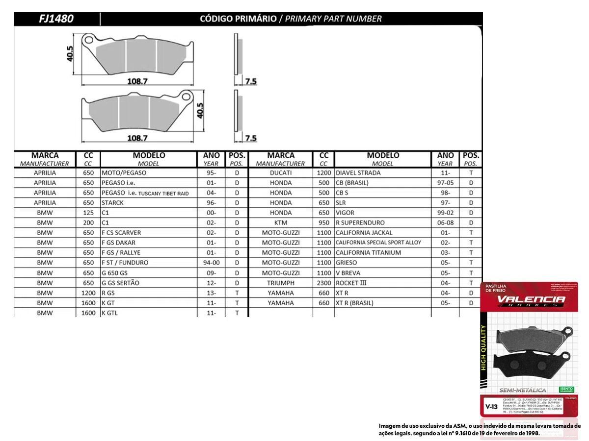 KIT JOGO PASTILHA FREIO KTM ADVENTURE 990 S COM ABS 2006... - VL BRAKES