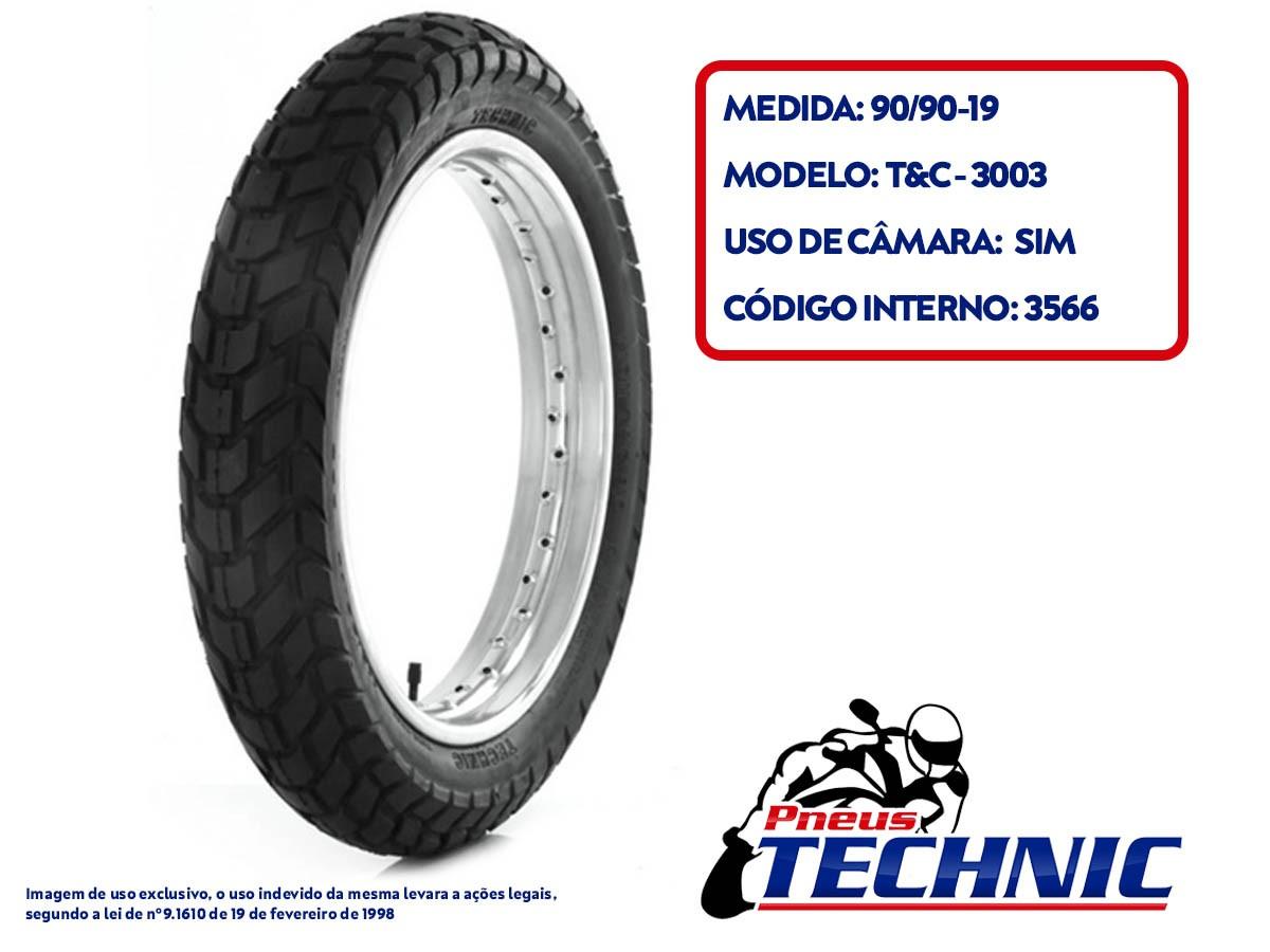 KIT PNEU 90-90-19 T&C TECHNIC + PASTILHA DE FREIO TRASEIRA NXR BROS 160 VL BRAKES