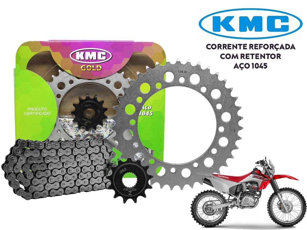KIT RELAÇÃO HONDA CRF 230 (TODOS OS ANOS) COM RETENTOR KMC GOLD