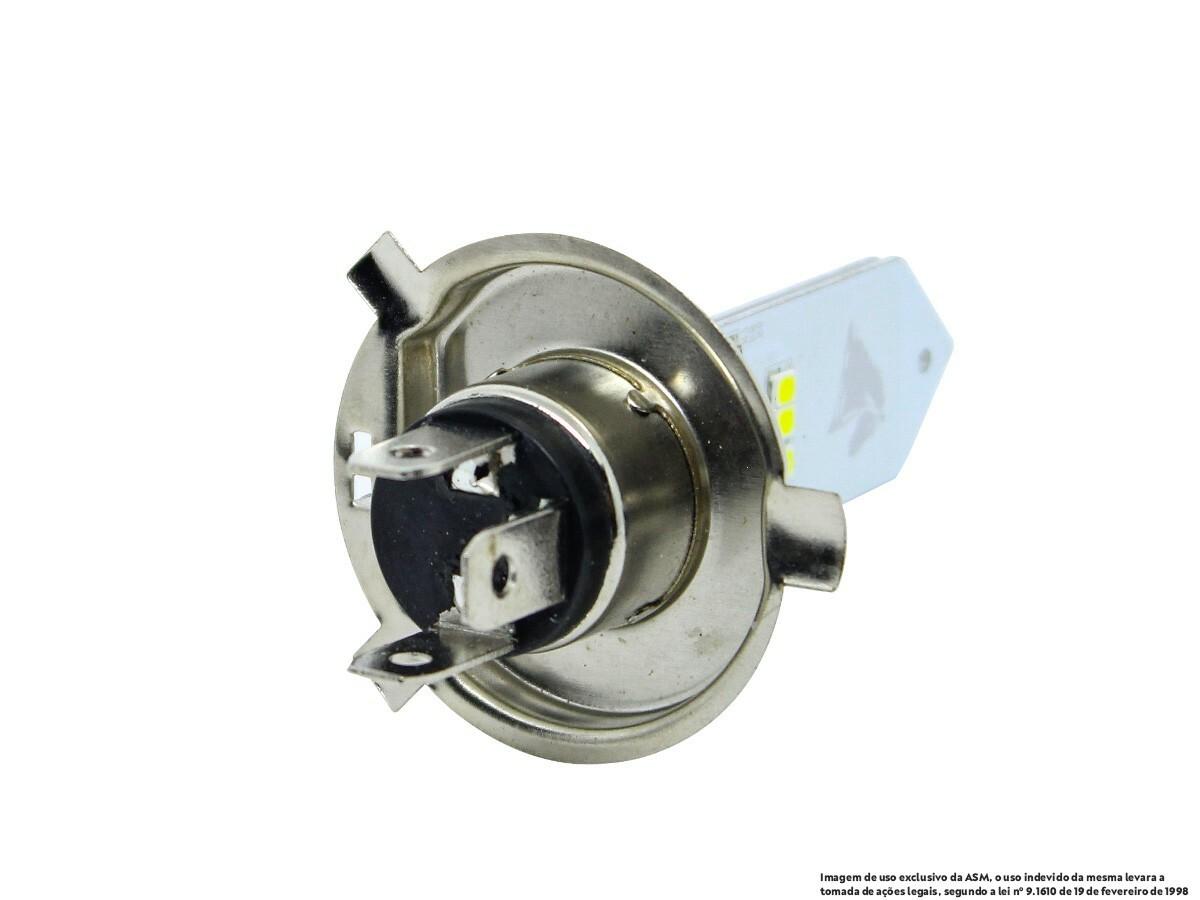 LÂMPADA FAROL LED H4 CG/ CARGO/ MIX/ START 125/ 150/ 160 (EFEITO XENON) STALLION