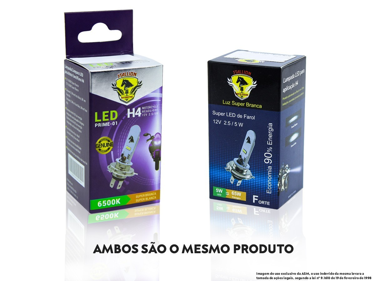 LÂMPADA FAROL LED H4 DAFRA CITYCOM 300 (EFEITO XENON) STALLION