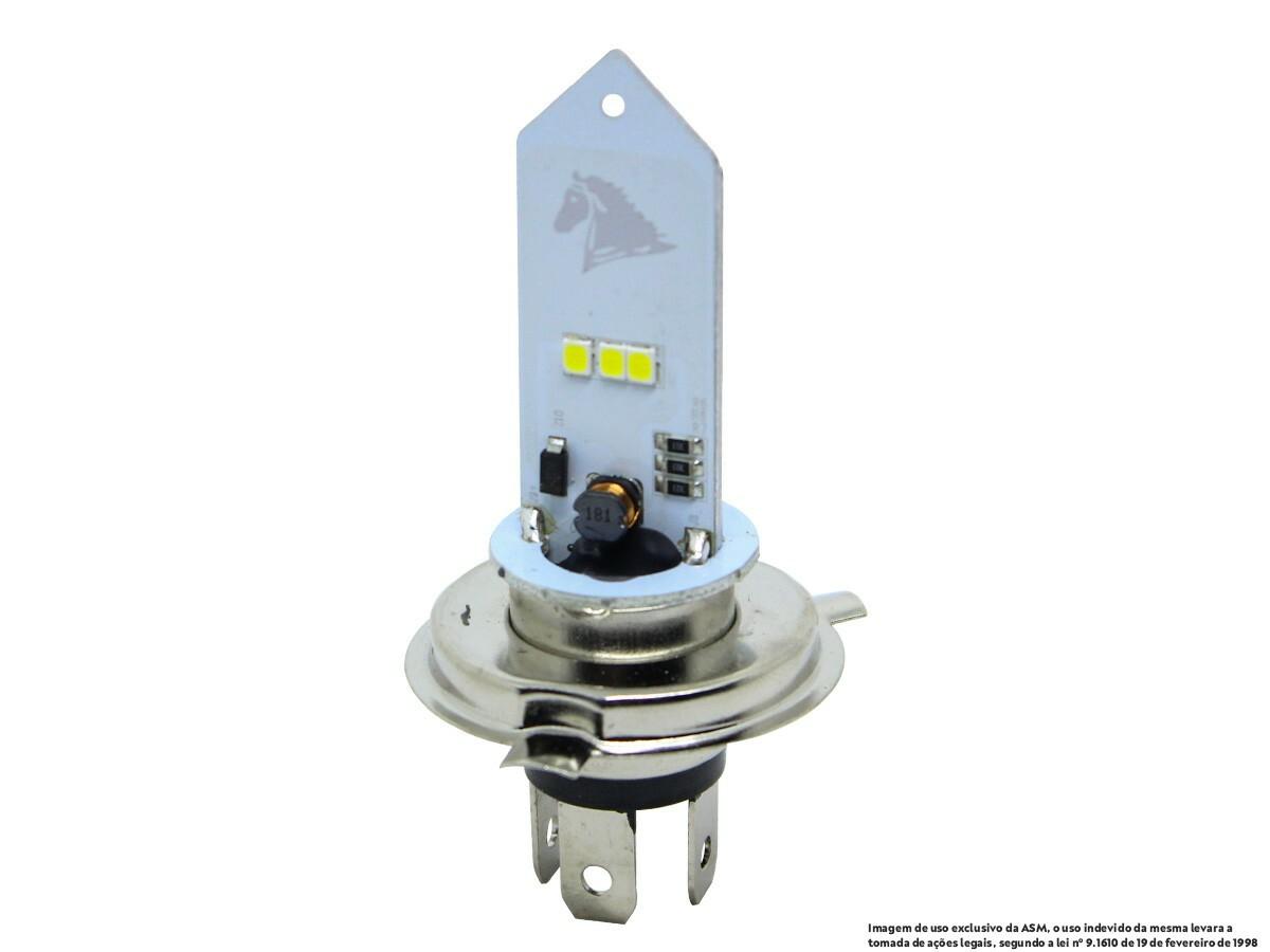 LÂMPADA FAROL LED H4 YBR/ FACTOR/ XTZ 125 (EFEITO XENON) STALLION