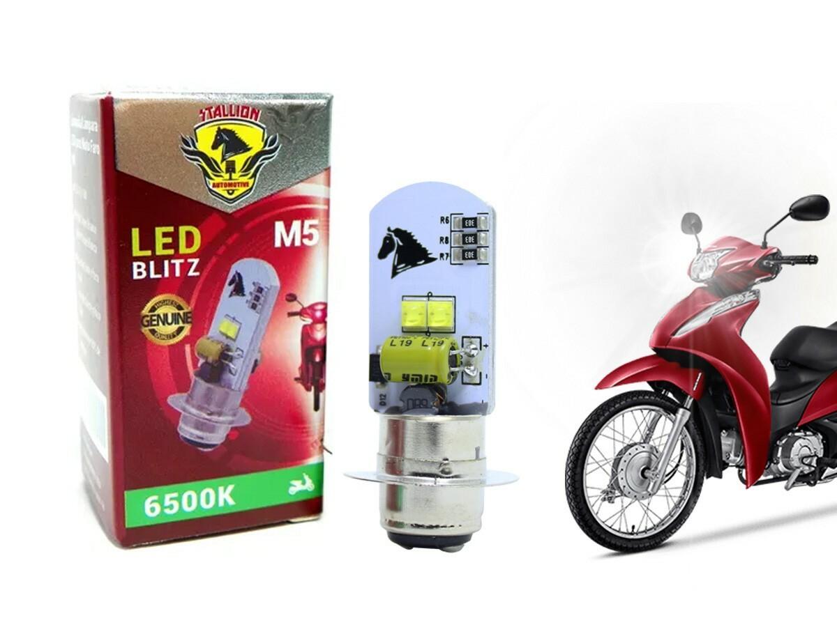 LÂMPADA FAROL LED M5 BIZ 100/ POP 100 (EFEITO XENON) STALLION