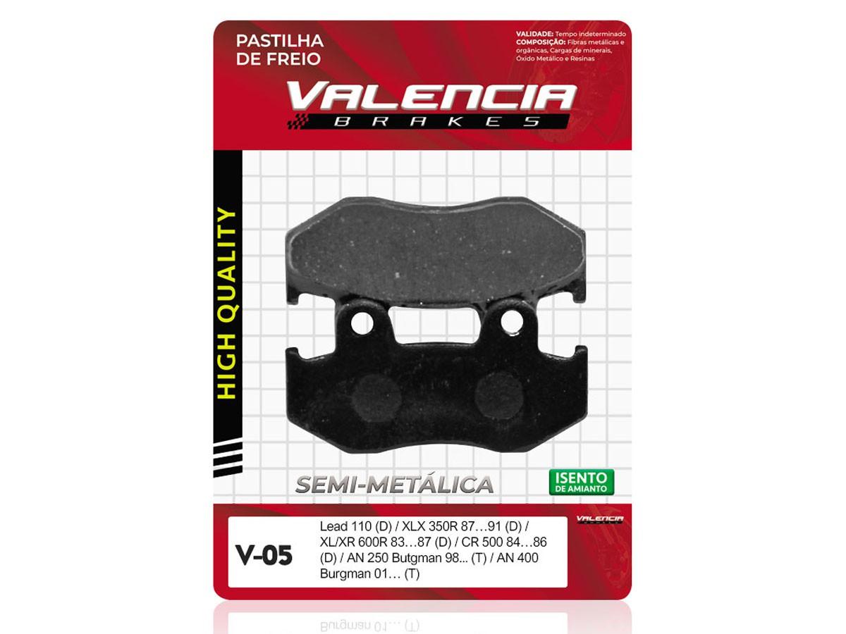 PASTILHA DE FREIO DIANTEIRA HONDA XL 600R  1983 A 1987 VALENCIA (V05-FJ0840)