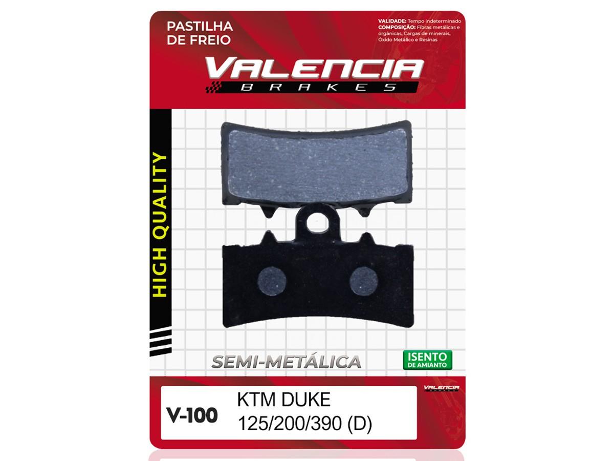 PASTILHA DE FREIO DIANTEIRA KTM DUKE 125CC 2011/...  VALENCIA(V100-FJ2630)