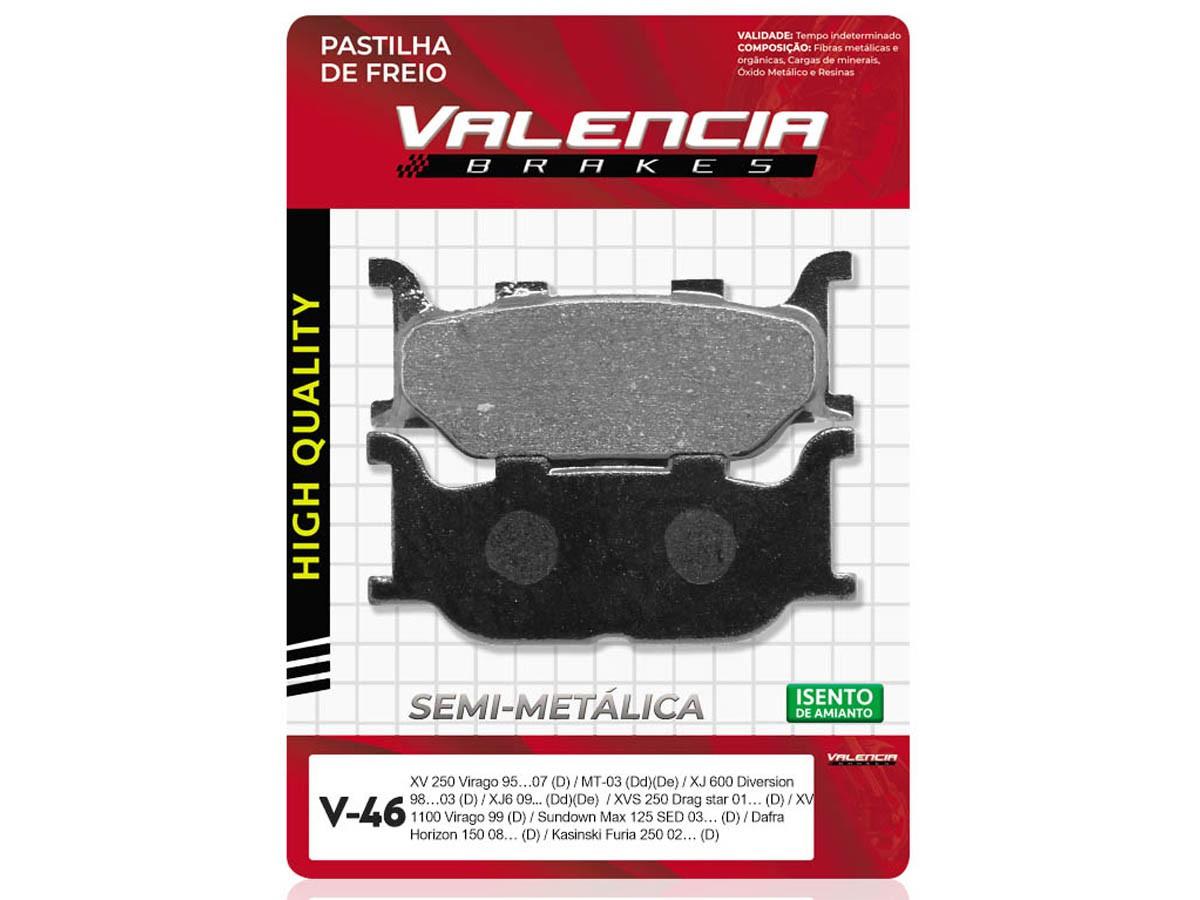 PASTILHA DE FREIO DIANTEIRA SUNDOWN MAX 125 SED 2003/... VALENCIA (V46-FJ1430)