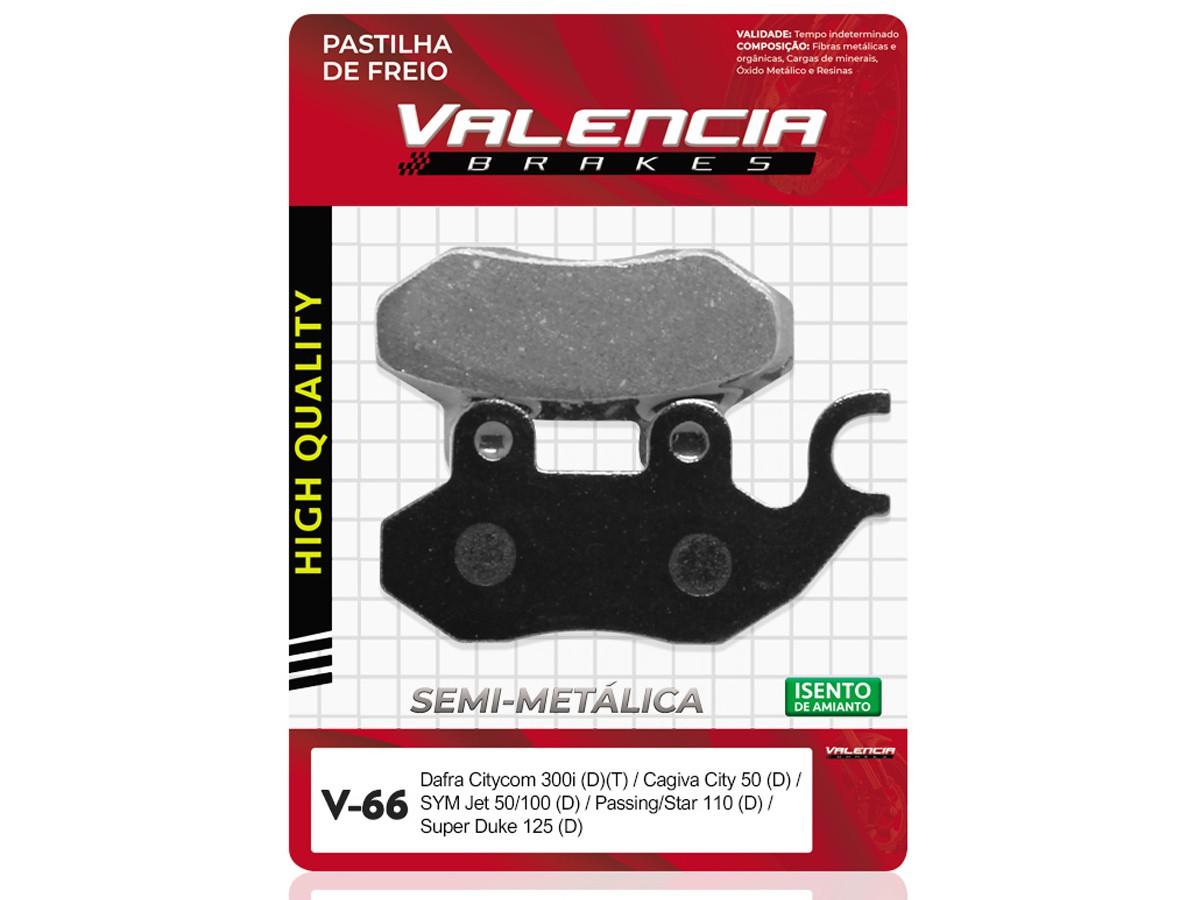 PASTILHA DE FREIO DIANTEIRA SYM/SANYANG PASSING 110 1995/... VALENCIA (V66-FJ1460)