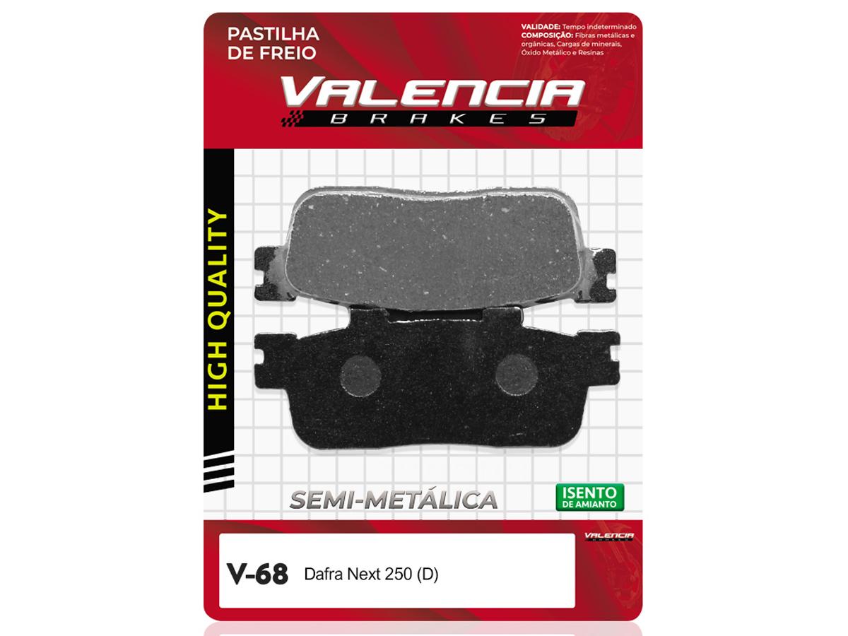 PASTILHA DE FREIO DIANTEIRO DAFRA NEXT 250  VALENCIA (V68)