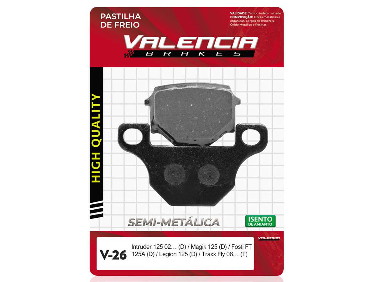 PASTILHA DE FREIO DIANTEIRO FYM FY-19 125CC 2006/... VALENCIA (V26)