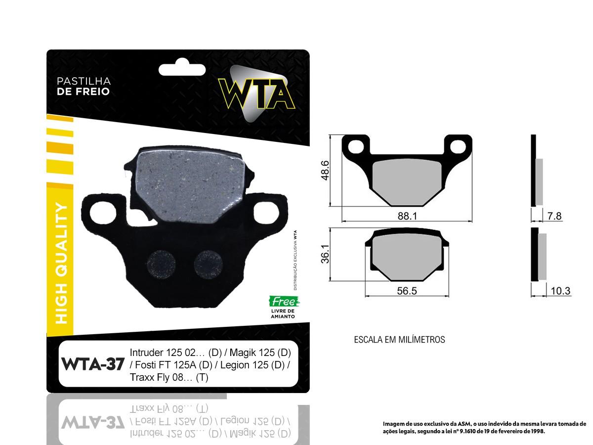 PASTILHA DE FREIO DIANTEIRO HONDA CR 250 / CR 250E 2002/... (ORIGINAL WTA49-FJ0865)