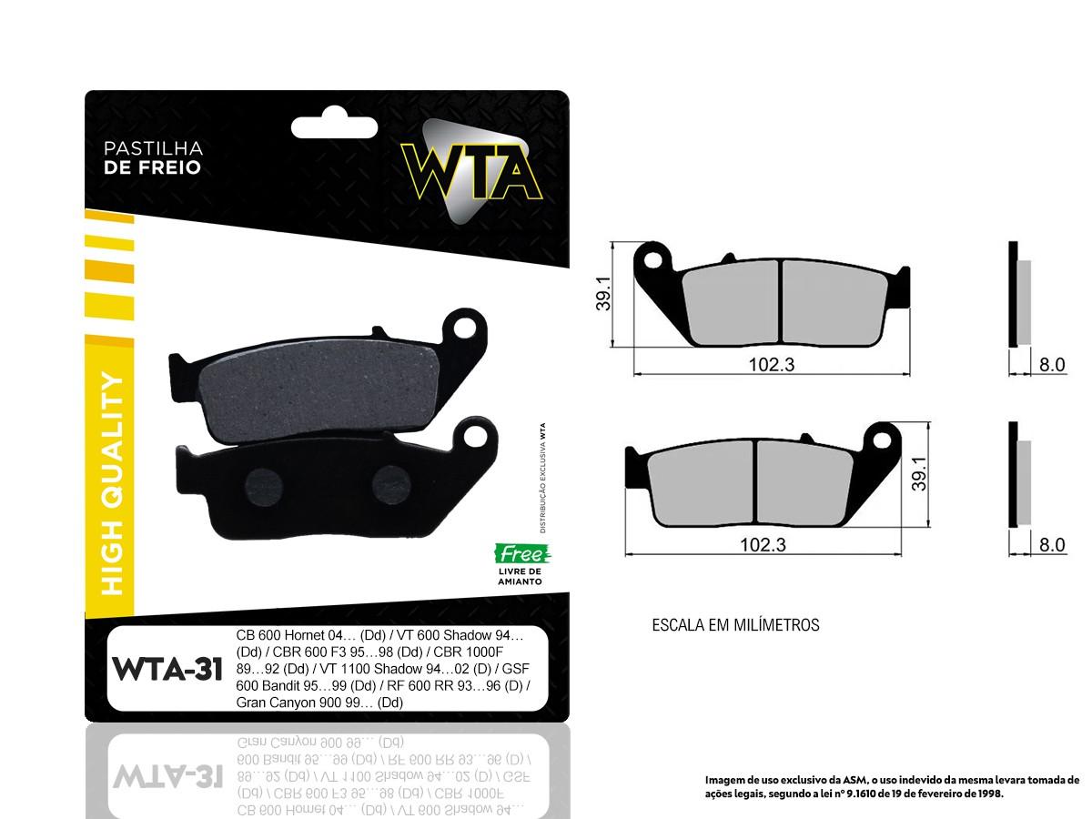 PASTILHA DE FREIO DIANTEIRO HONDA VTX 1300 C / S (ORIGINAL WTA31-FJ0875)