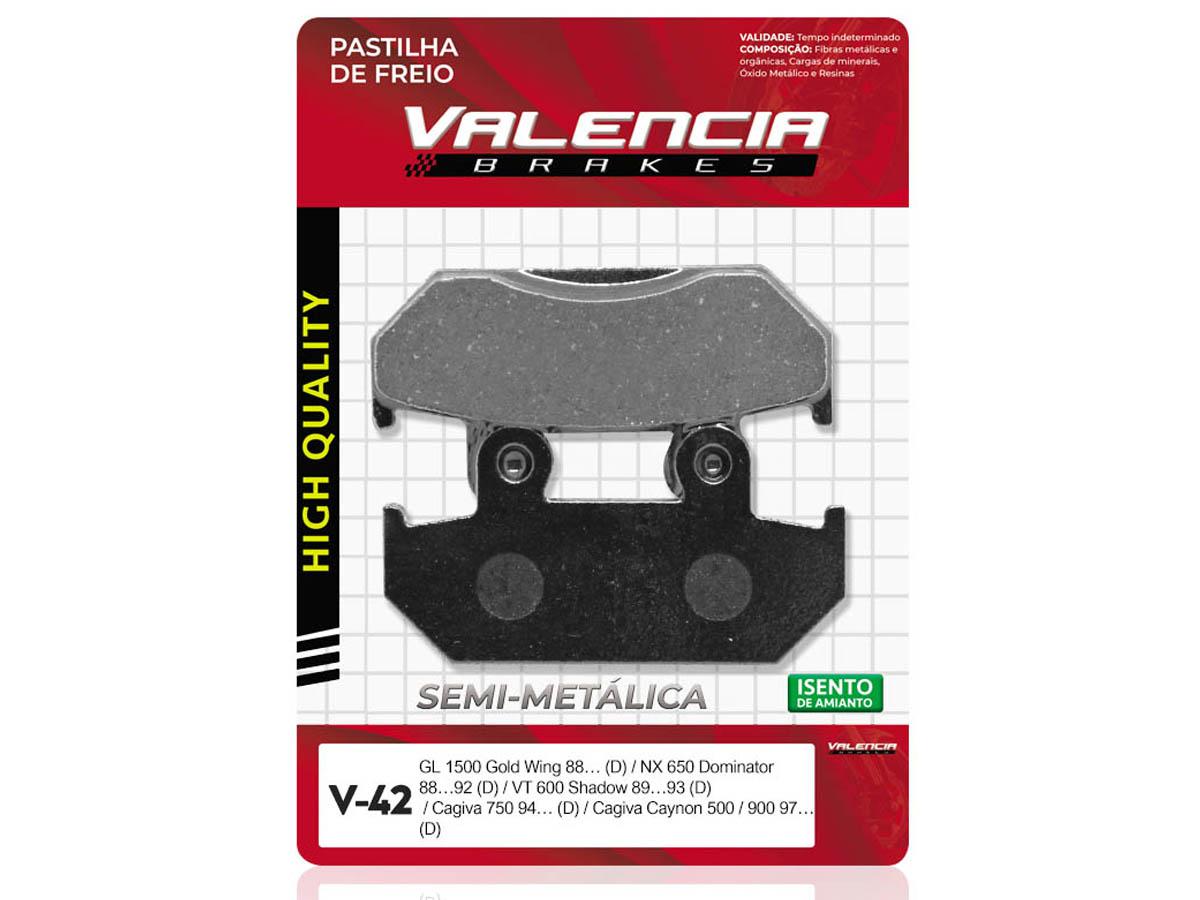 PASTILHA DE FREIO DIANTEIRO HONDA XRV AFRICA TWIN 650 1988/... VALENCIA (V42)