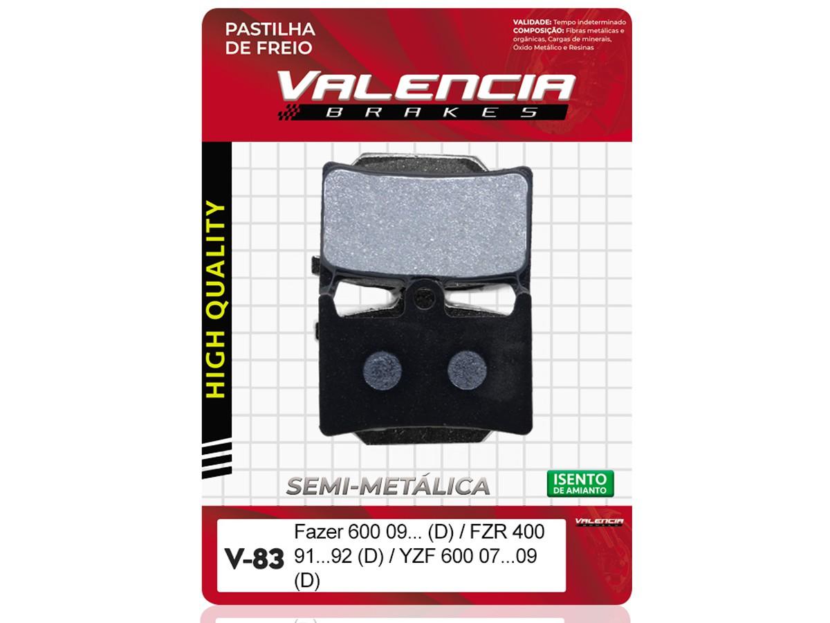 PASTILHA DE FREIO DIANTEIRO YAMAHA TDM 900CC 2002/... (FREIO DUPLO) VALENCIA (V83-FJ1782)