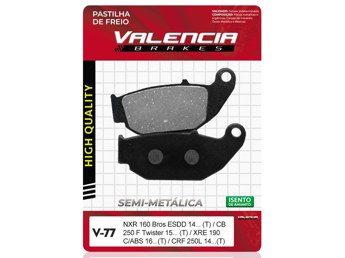 PASTILHA DE FREIO TRASEIRA HONDA CRF 250 L 2014/... VALENCIA (V77)